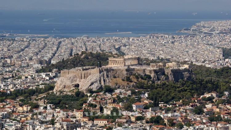 Athen - Panorama  der Akropolis
