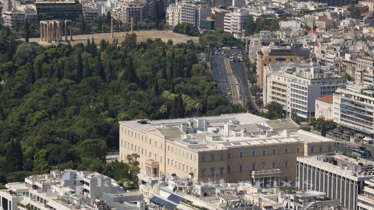 Athen - Panorama  mit dem Parlamentsgebäude