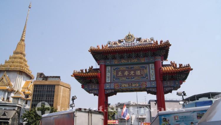 Wat Traimit Tempel in Chinatown