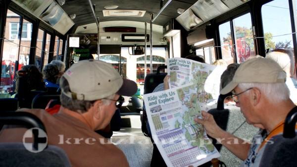 Mit dem Island Explorer Bus auf Tour