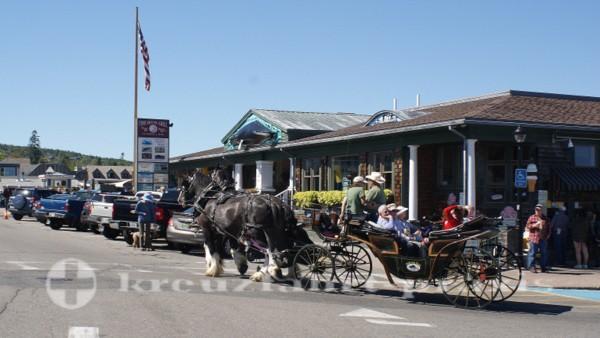 Bar Harbor -Eine Pferdekutsche