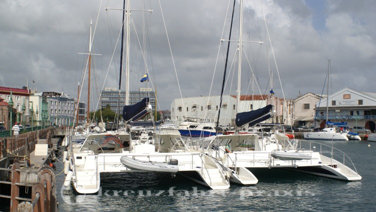Bridgetown/Barbados - Boote an der Carenage