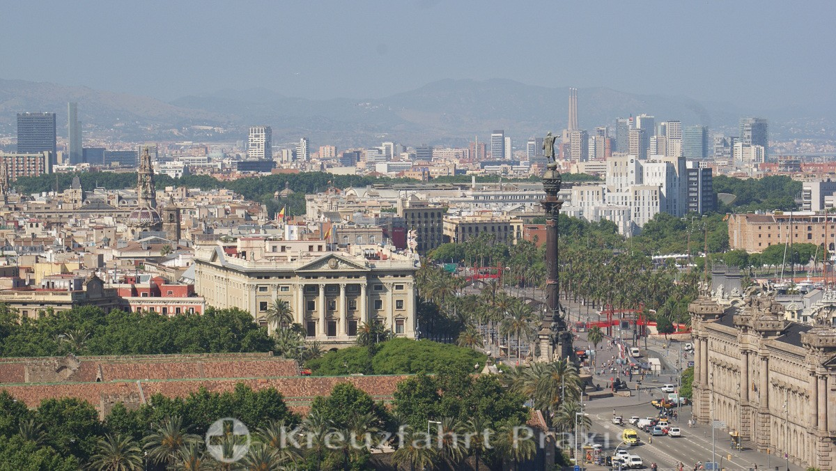 City panorama with the Columbus column