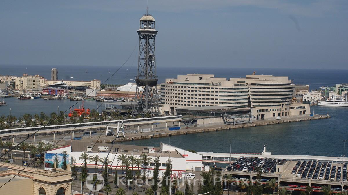 Barcelona-Hafen und Telefèric de Montjuïc