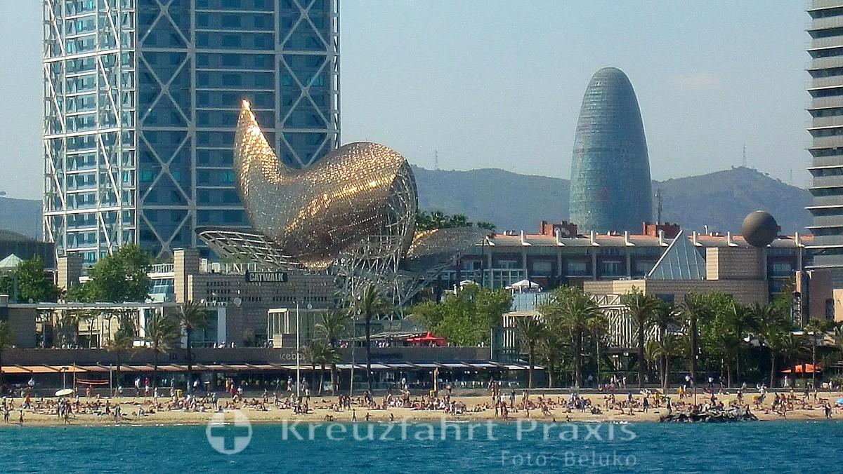 Barcelona - Kunstinstallation El Peix d'Or des Frank Gehry