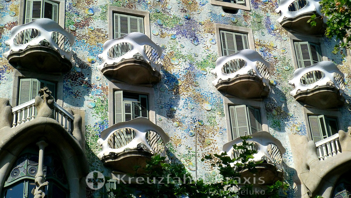 Barcelona - Fassadendetail der Casa Batlló