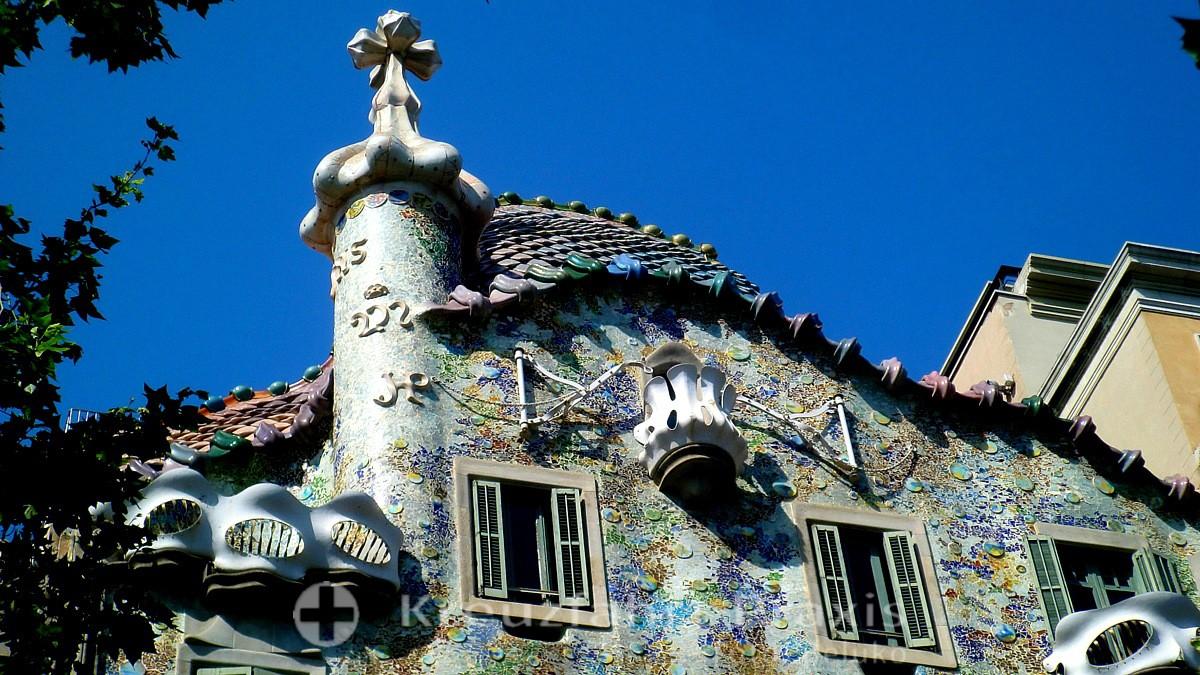 barcelona casa batllo facade detail