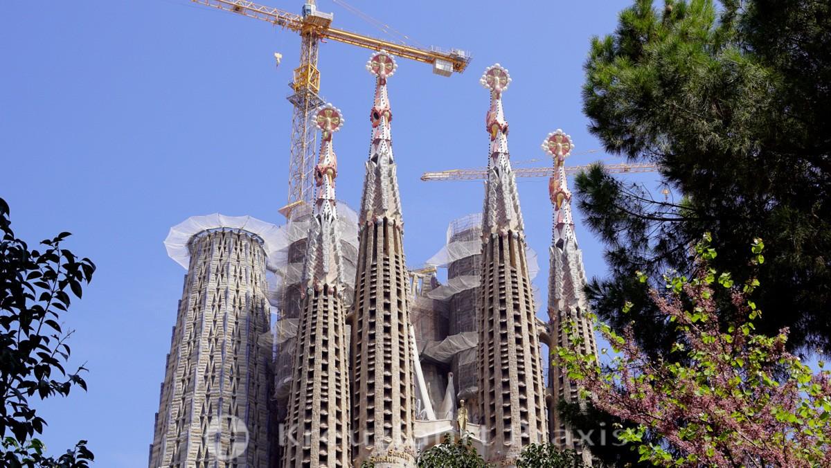 Die Türme der Sagrada Familia