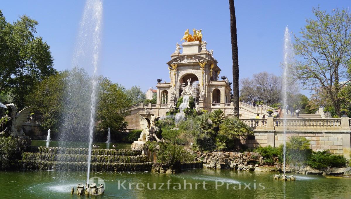 Barcelona - Parc de la Ciutadella - Cascada Monumental waterfall