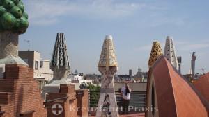 Barcelona - Palau Güell - roof level