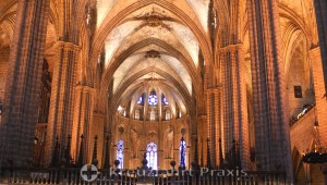 Barcelona - nave of the cathedral