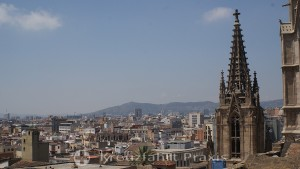 Barcelona - view from the roof level of the cathedral