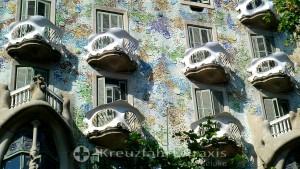 Barcelona - Facade detail of Casa Batlló