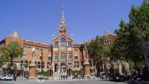 Hospital de la Santa Creu i Sant Pau - der Haupteingang