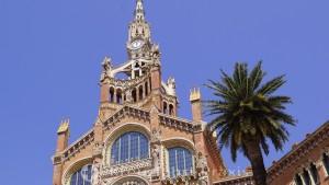 Hospital de la Santa Creu i Sant Pau - Turm über dem Haupteingang