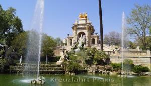 Der Parc de la Ciutadella mit der Cascada Monumental