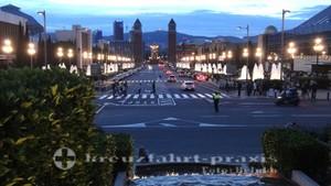 barcelona font magica view placa espanya