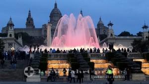 barcelona font magica palau nacional