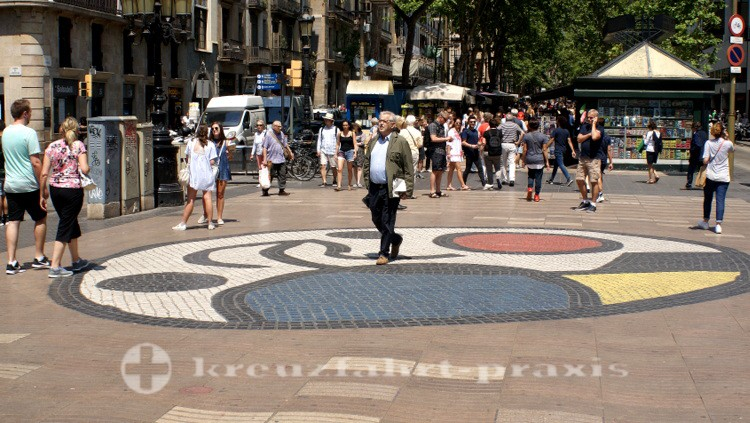 Barcelona - La Rambla mit dem Miro Mosaik