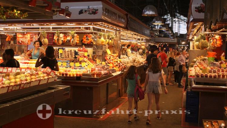 Barcelona - Market stall in the Mercat de la Boqueria
