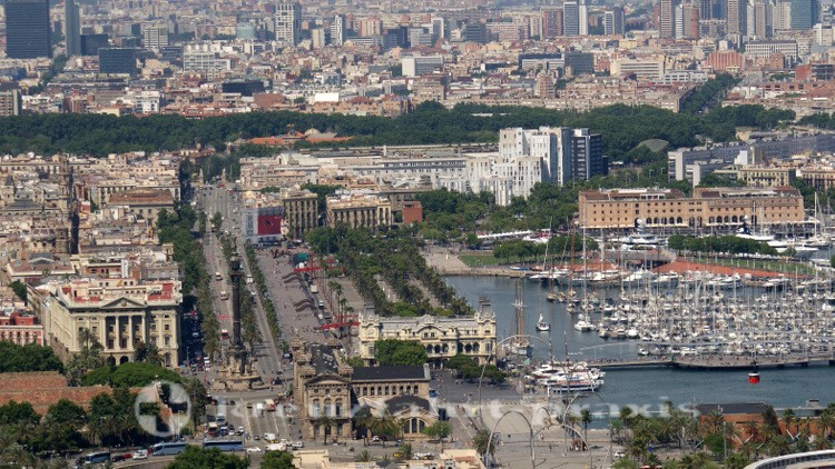 Barcelona - Ronda Litoral with the Port Authority building