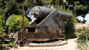 Geschütz am Castell de Montjuïc