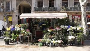 La Rambla - Blumenstand