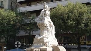 La Rambla - Denkmal des Schriftstellers Fredic Soler