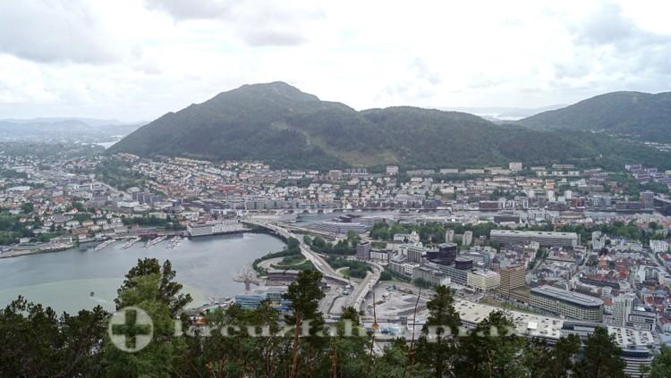 Blick vom Fløien auf Bergen