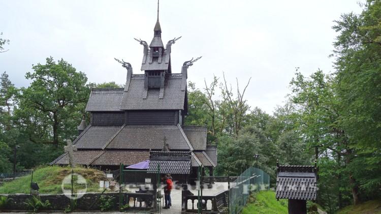 Die Fantoft Stabkirche
