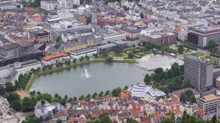 Der Stadtsee Lille Lungegårdsvannet