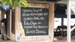 Bonaire - Kralendijk - Speisekarte eines Restaurants