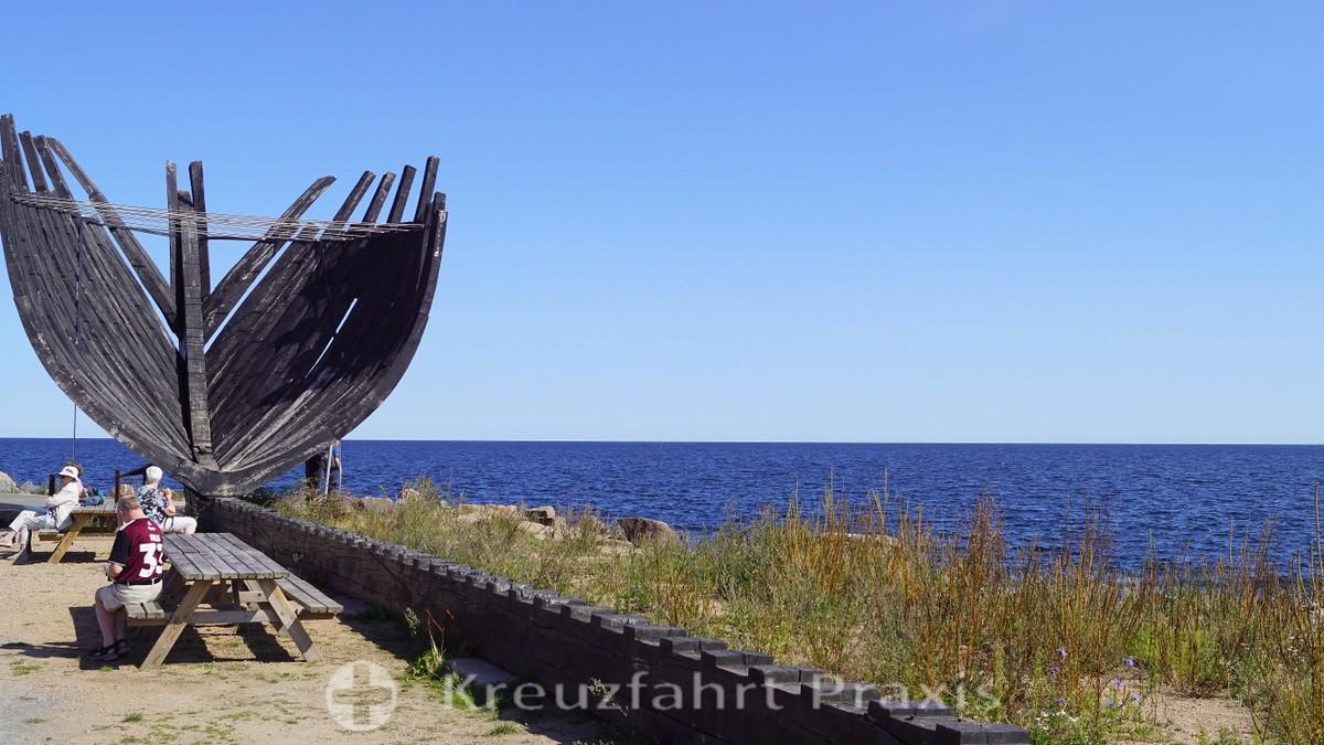 Svaneke - fragment of the three-masted barque Svanen