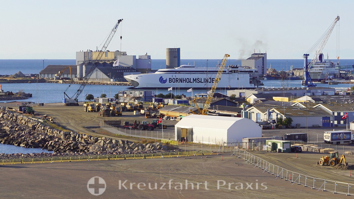 Bornholm - ferry in the harbor