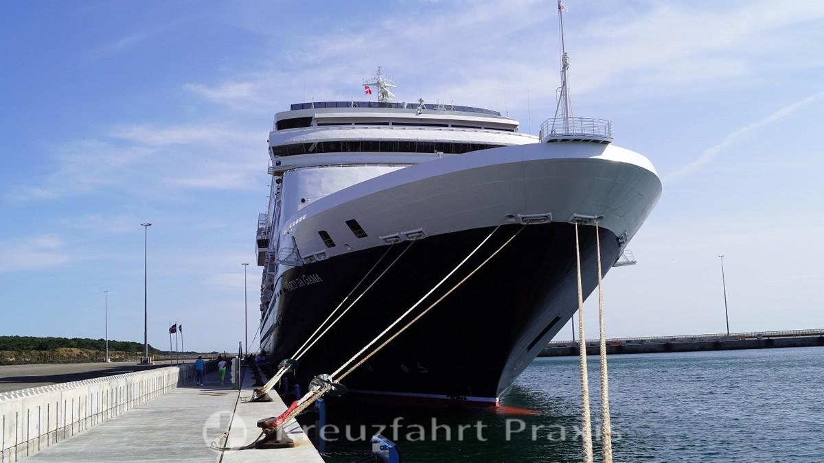 Rønne / Bornholm - VASCO DA GAMA at the cruise quay
