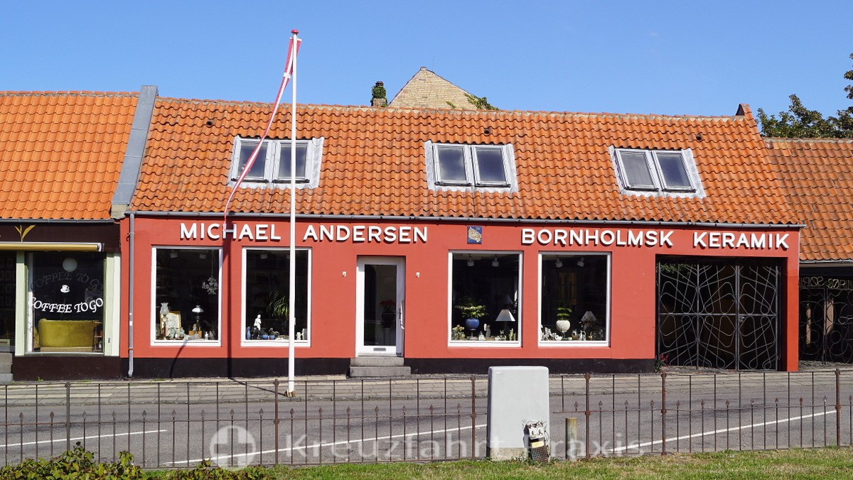 Rønne / Bornholm - ceramics shop in the center