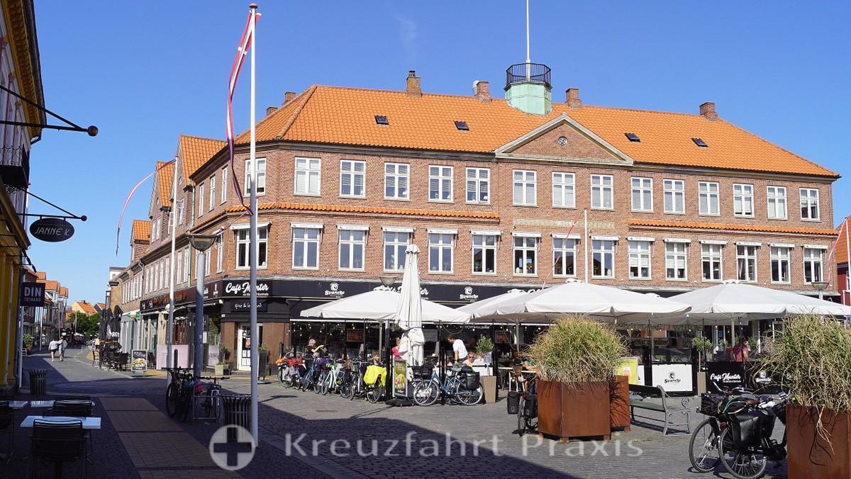 Bornholm - Rønne - Store Torv with Café Munter