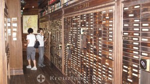 German emigration center - file boxes with names
