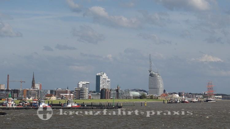 Bremerhaven vom Schiff gesehen