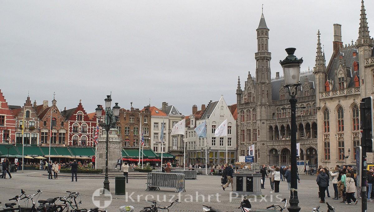 Bruges - De Grote Markt with the Proviniciaal Hof