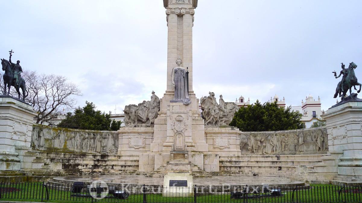 The Cortes Monument in Cádiz's Plaza España