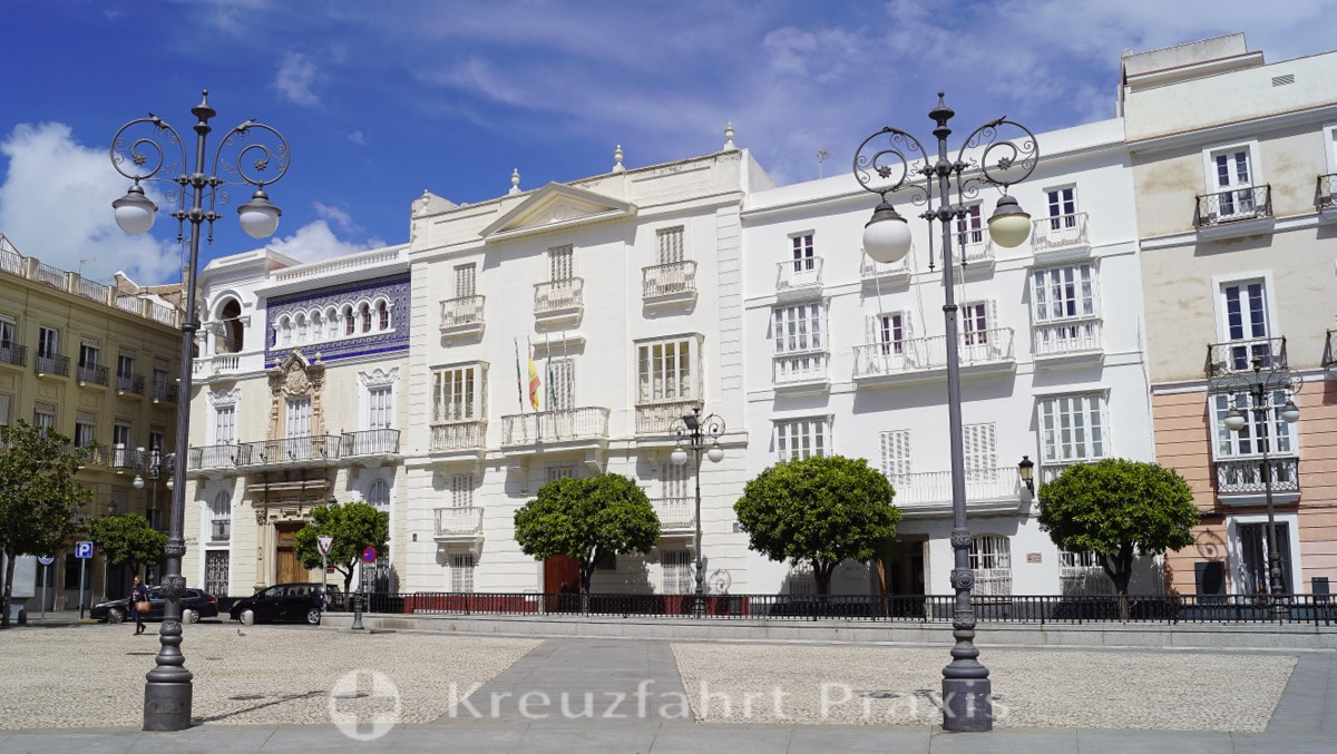Rector's Office of the University of Cadiz in Plaza San Antonio
