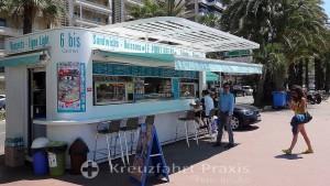 Imbiss-Stand am Boulevard de la Croisette