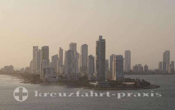 Cartagena - Castillo Grande heute eine Hotelzone