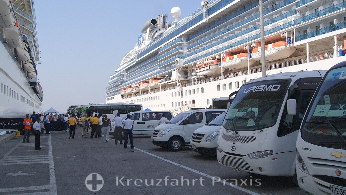 Cruise ships in the port of Cartagena