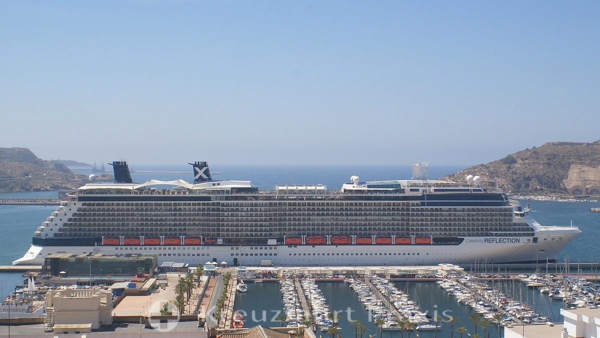 Celebrity Reflection at Cartagena's cruise terminal