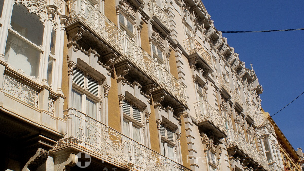 Cartagena - Art Nouveau facades of Calle Mayor