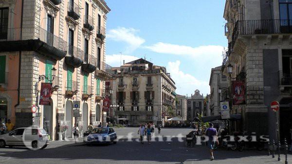 Catania - Barocke Gebäude an der Via Etnea