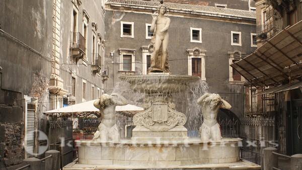 Catania - Amenano-Brunnen
