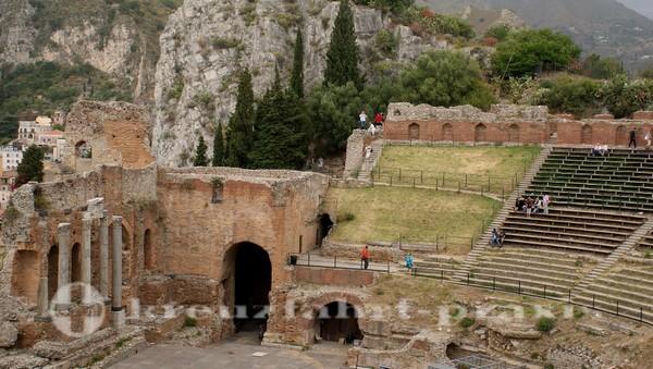 Taormina - Teatro Greco - Bühne und Zuschauerränge